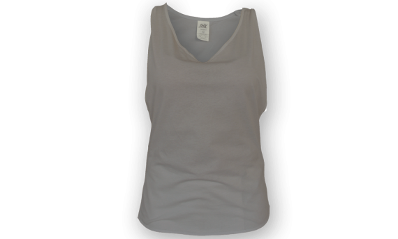 Camiseta-tirantes-gym-mujer-personalizable-Gris-Vista-frontal